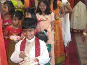 Tamil Canadians of Sri Lankan Tamil origin in traditional clothes
