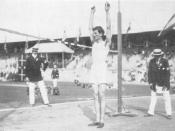 Konstantinos Tsiklitiras during the standing high jump competition at the 1912 Summer Olympics.