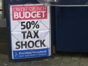 50% higher rate tax announcement in Budget 2009