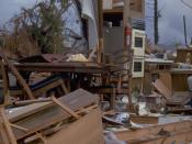 Hurricane Andrew did extensive damage to homes in Miami.