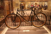 Wright Brothers bicycle on display at the National Air and Space Museum.