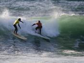 Ray Savoie (left) - Rusty Birchell of Cencal Roofing (right) good-bad-ugly-17th-surf_434