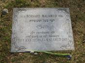 English: Grave of American writer Bernard Malamud at Mount Auburn Cemetery in Cambridge, MA.