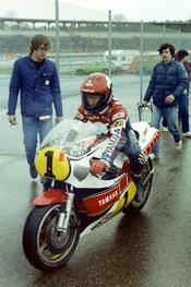 Deutsch: Kenny Roberts beim Großen Preis von Deutschland für Motorräder 1981 in Hockenheim