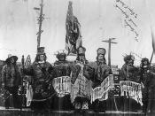 Dedication of Chief Seattle statue, 1912