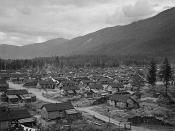 English: Internment camp for Japanese - Canadians in British Columbia. Français : Camp d'internement pour les Canadiens japonais en Colombie-Britanique.