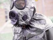 M-17 nuclear, biological and chemical warfare mask and hood