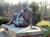 This bronze statue of Archimedes is at the Archenhold Observatory in Berlin. It was sculpted by Gerhard Thieme and unveiled in 1972.