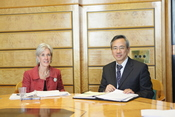 Secretary Sebelius Meeting with Taiwan's Minister of Health, World Health Assembly
