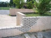 English: Masonry repair work done by Maryland based company