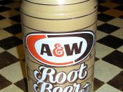 A can of A&W root beer.