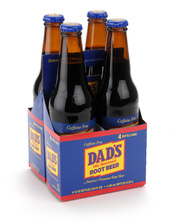 English: Dad's Root Beer 4pk Glass Bottles