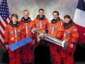 The crew of the Space Shuttle Columbia for STS-93, the mission during which twelve gold Sacagawea dollars were sent into space