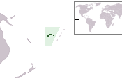 The location of Fiji