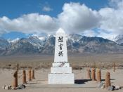 A monument at Manzanar,