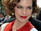 English: Milla Jovovich at the Cannes film festival