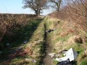 English: Rural blight The scourge of rural communities ..... fly-tipping !