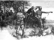 Native Americans guiding French Explorers through Indiana