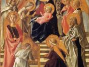 Fra Filippo Lippi - Madonna and Child Enthroned with Saints - WGA13162