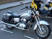Silver Honda Shadow