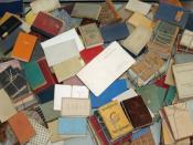 Books burned by Nazis (display at Yad Vashem).