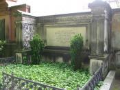 Grab des Mathematikers Leopold Kronecker auf dem alten St. Matthäus-Kirchhof in Berlin-Schöneberg