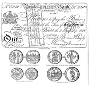 English: Bristol money and trade tokens