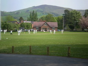 A cricket match in progress at Ruthin School, 28 April 2007