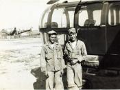 Byons and Boyden at Kimpo Airfield, Korea,Â