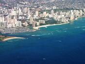 English: Aerial of Waikiki and Ala Moana, Honolulu, Hawaii