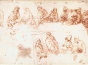 Leonardo da vinci, Study for the Last Supper