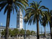 English: The Ferry Building in San Francisco along the Embarcadero