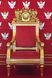 English: Polish throne at Warsaw Royal Castle