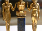 Osiris, Isis and Horus: pendant bearing the name of King Osorkon II