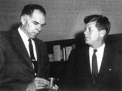 President Kennedy and his Atomic Energy Commission Chairman, Glenn Seaborg.