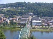 The Kittanning Citizens Bridge, Armstrong County Courthouse and downtown of Kittanning
