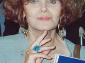Eileen Brennan at the AIDS Project Los Angeles (APLA) benefit, Los Angeles- Sept. 1990