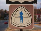 Trail of Tears sign on Hwy 71 through Fayetteville, Arkansas