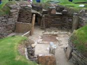 English: Neolithic excavations at on Orkney in Scotland. Español: Skara Brae, Islas Orcadas, Escocia