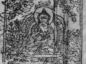 Buddha Shakyamuni Teaching the Kalacakra according to a Tibetan blockprint of the Vaidurya dkar-po (1685)