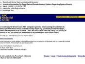 Royal Bank phishing scam