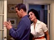 Paul Newman (Brick) and Elizabeth Taylor (Maggie) in an early scene from the film