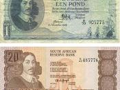 Old South African currency featuring Jan van Riebeeck
