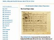 Screenshot of The Rest is Noise, a classical music blog by Alex Ross.