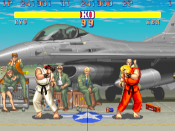Although Street Fighter II was not the first fighting game, it popularized and established the gameplay conventions of the genre.