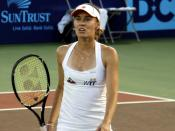English: Martina Hingis playing in 2011 for the New York Sportimes