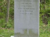 English: Memorial to the U.S. Soldiers who died at Mississinewa
