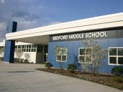 English: Bedford Middle School, 88 North Avenue, Westport, CT. Opened in 2001, this school is named after the original Bedford Middle School on Riverside Avenue, now renovated and opened as Saugatuck Elementary School.