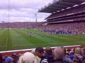 English: 2009 All-Ireland Senior Hurling Championship Final teams marching before game