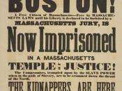 Citizens of Boston! A Free Citizen of Massachusetts—Free by Massachusetts Laws until His Liberty is Declared to be Forfeited by a Massachusetts Jury, is Now Imprisoned . . . Boston: s.n., ca. 1855. Samuel J. May Anti-Slavery Collection.